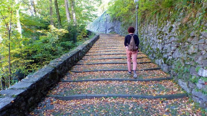 Aufstieg zum Sacro Monte