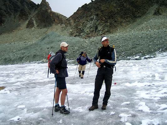 Auf dem Glacier de Cheilon