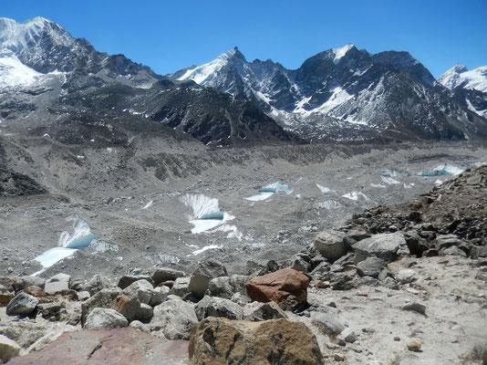 Blick zurück - Khumbu-Gletscher