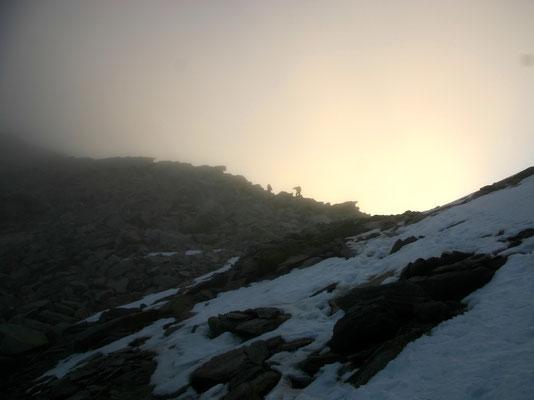 Am Zwischbergenpass - 3268 M