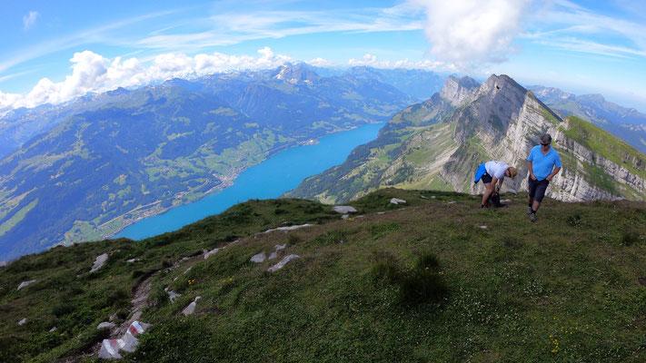 Gipfelblick: Glarner Alpen - Walensee - Churfirsten