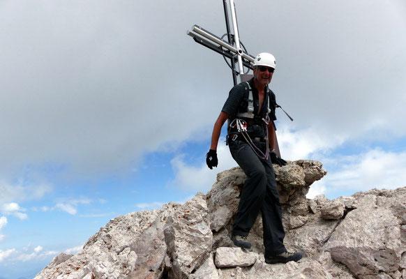 Am Gipfel des Sas Rigais - 3025 M