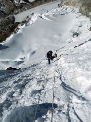 Gipfelwand von oben