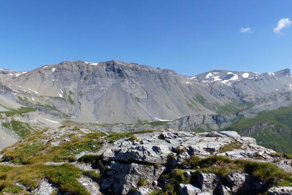 Gipfelblick: Les Faverges - Schneehore