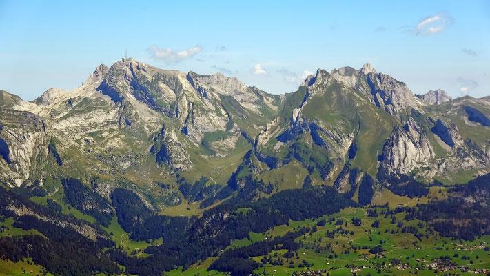 Gipfelblick zum Alpsteinmassiv