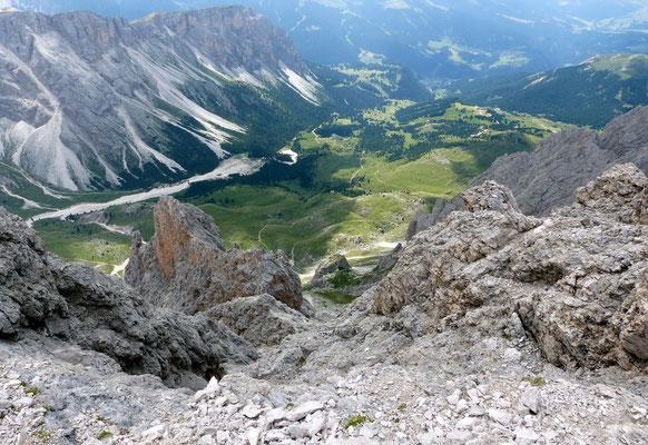 Blick vom Gipfel auf die Cislesalm