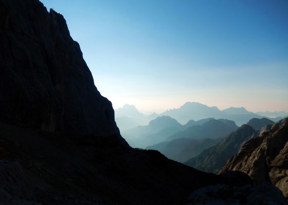 Blick in die östlichen Dolomiten