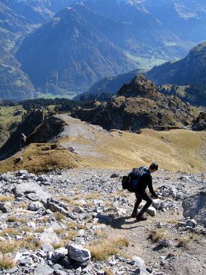 Abstieg über Bützi
