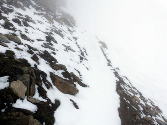 Nordseitige Steilpassagen
