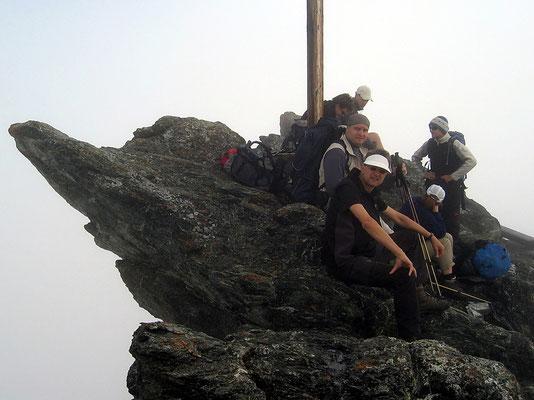 Am Gipfel des Tête Noire
