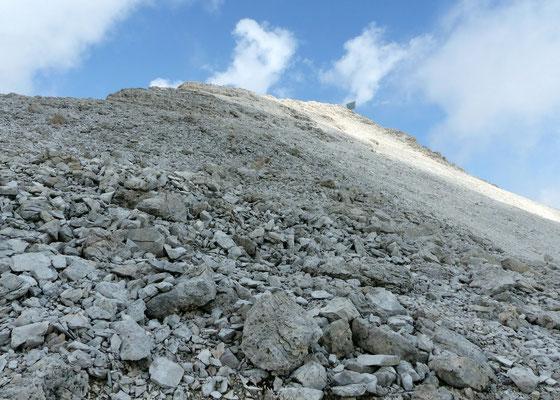 Ostseitige Gipfelflanke
