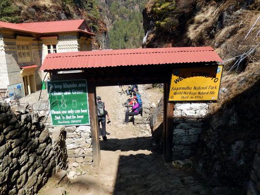Eintritt - Sagarmatha National Park