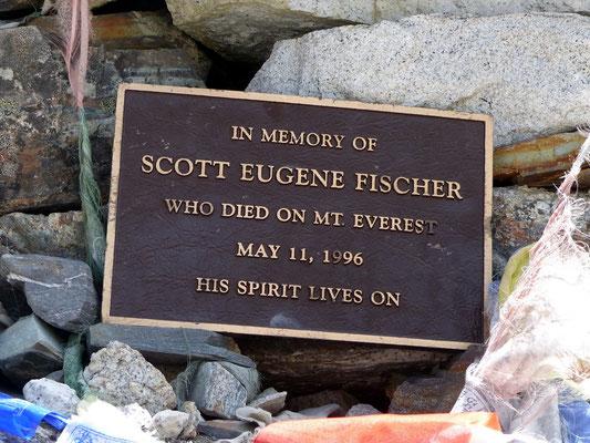 Scott Fischer Stone-Memorial
