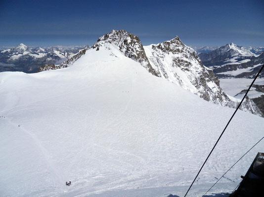 Zumsteinspitze vor Dufourspitze