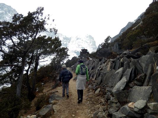 Aufstieg zur Thame Gompa