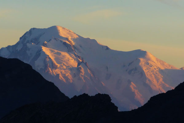 Sonnenuntergang am Mont Blanc - 4810 M