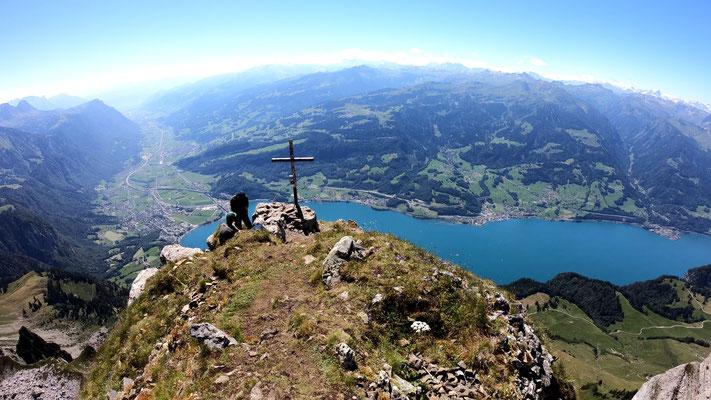 Gipfelblick nach Südost - Walenstadt