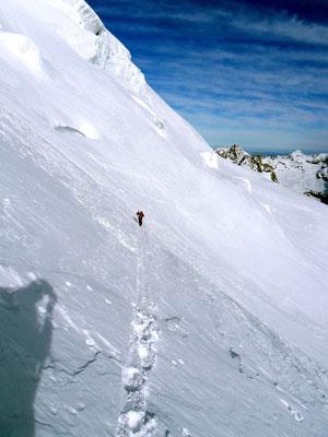 Nordflanke im Aufstieg