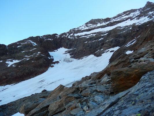 Einstieg in den Laggin-Gletscher