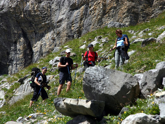 Aufstieg zur Lämmerenhütte