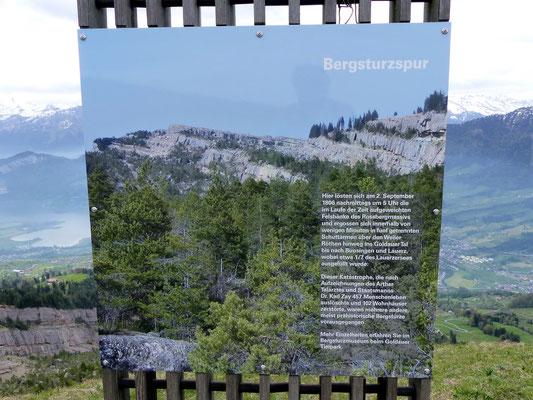 Hinweistafeln zum Bergsturz anno 1806