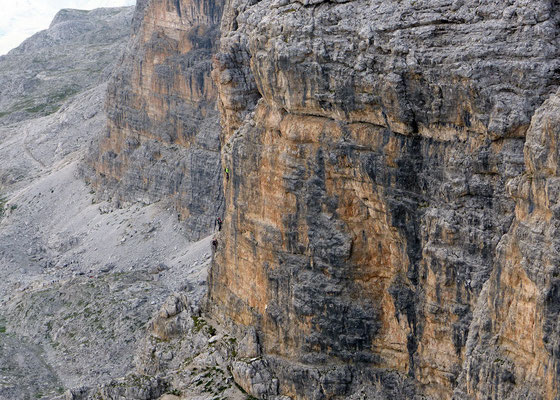 Blick auf den Klettersteig 2