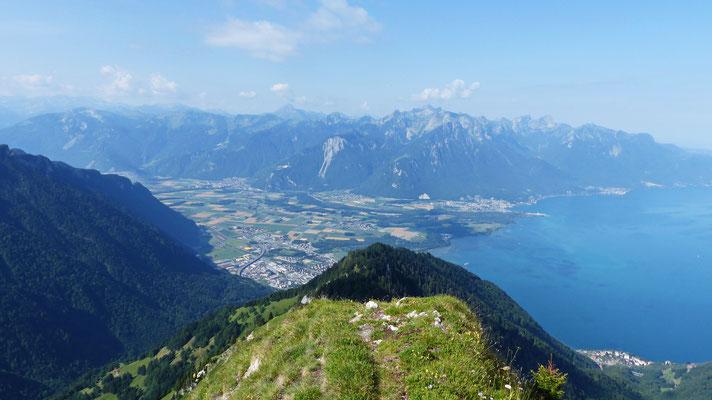 Gipfelblick: Chablais-Alpen