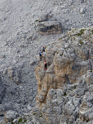 Blick auf den Klettersteig 1