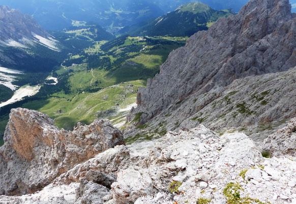Ausstieg in die Mittagsscharte - 2597 M