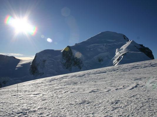 Gipfelaufbau des Mont Blanc