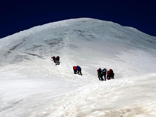 Vereister Gipfelaufbau