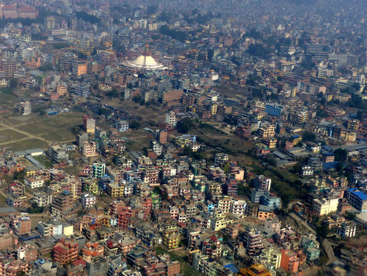 Anflug über Kathmandu