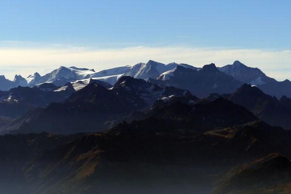 Gipfelblick - Ruinette-Gruppe
