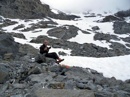 Zurück am Gletscherrand