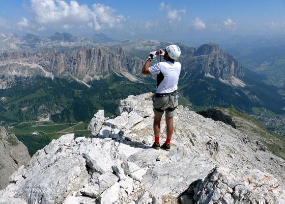 Claudio am Gipfel