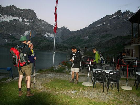 Aufbruch am Gipfeltag