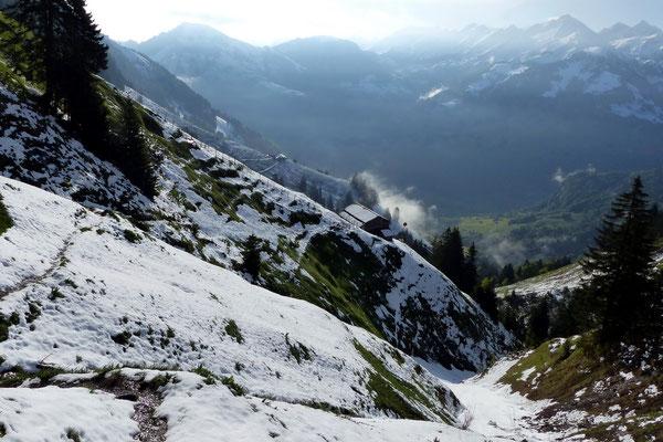 Abstieg nach Dallenwil