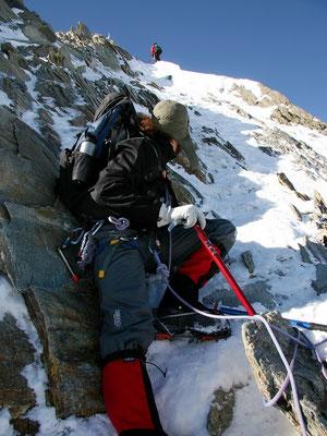Chris - Am Gipfelaufbau