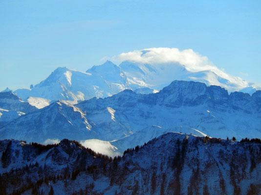 Gipfelblick - Mont Blanc-Massiv