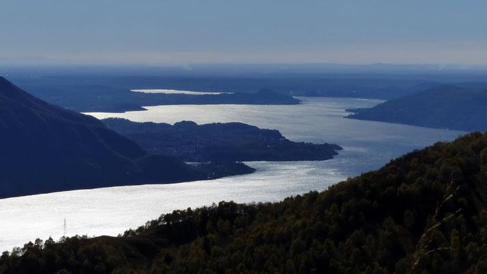 Lago Maggiore - Blick gen Süd bis Ticino