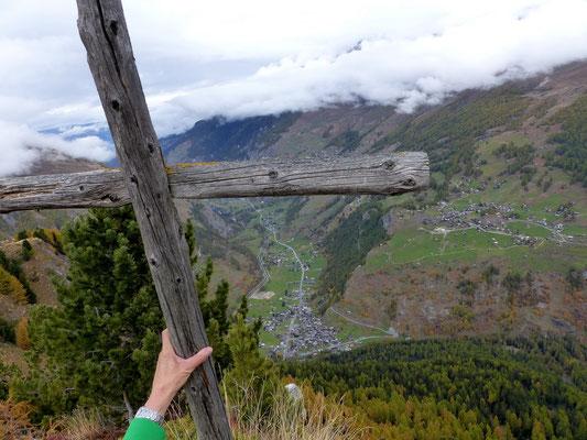 Tiefblick ins Val d'Hérens