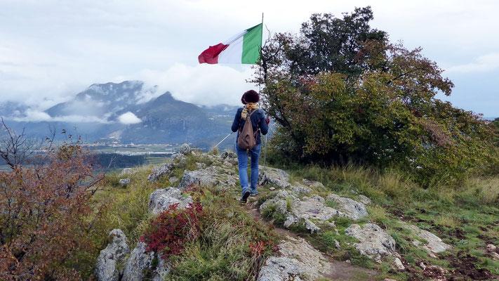 Am Gipfel des Monte Moscal - 427 M