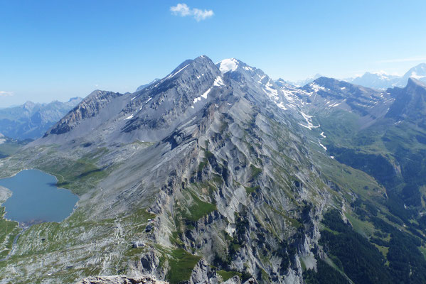 Gipfelblick: Plattenhörner - Rinderhörner - Altels - Balmhorn