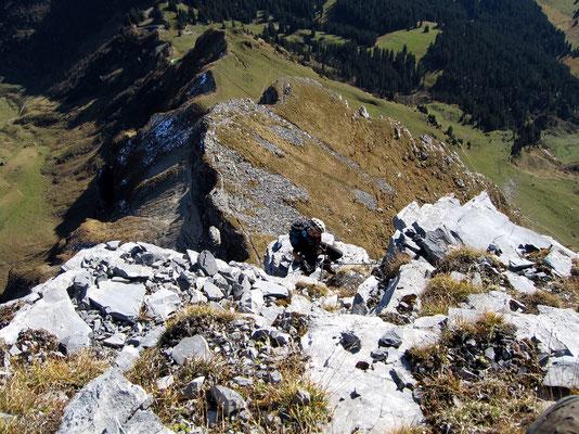 Leitereggplateau - Wandausstieg