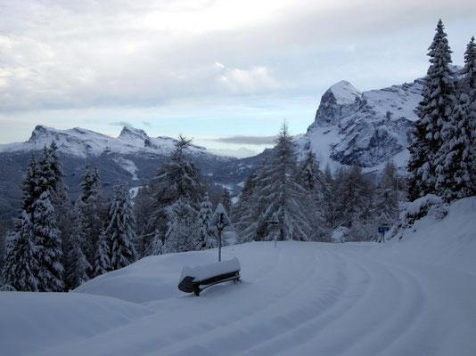 Westrampe vor Cortina d'Ampezzo