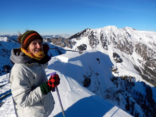 Raphaela am Gipfel