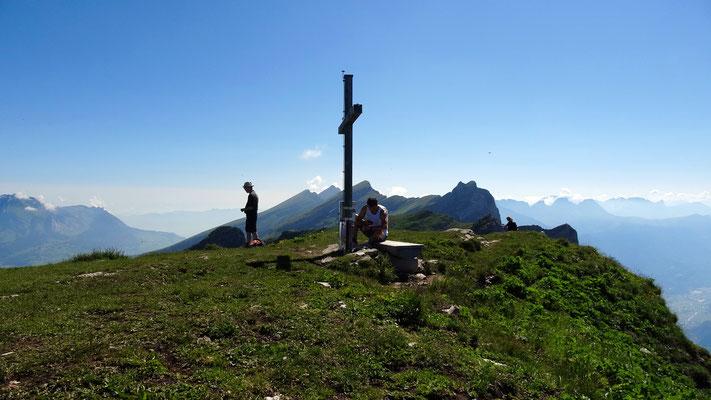 Am Gipfel des Leistkamm - 2101 M