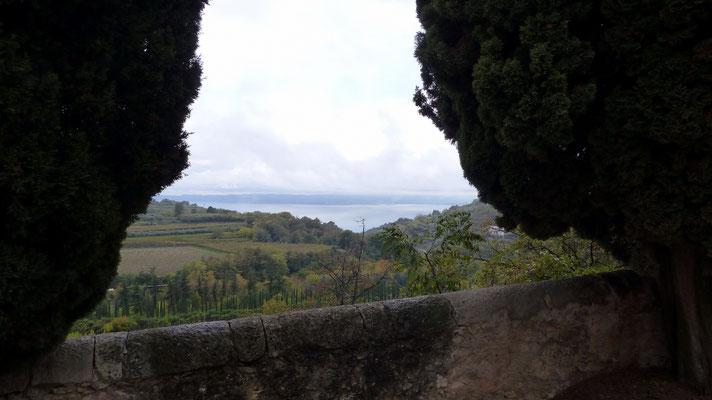 Blick von Incaffi zum Gardasee