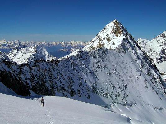 Aufstieg vor La Ruinette - 3875 M