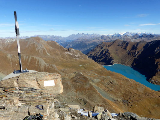Gipfelblick - Lac de Moiry